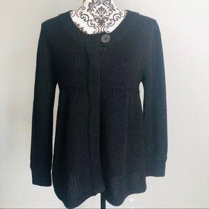 Miss Me Black Cardigan Sweater